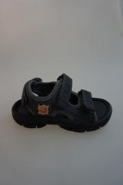 Little David, sandaal, waterschoen, klittenbandsluiting op wreef en achter, valt klein, donker grijs