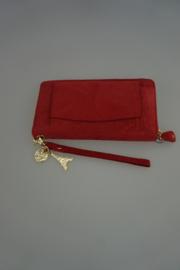 By Lou Lou SLB 13G, Silkier Suede, rood nubuck leer met gouden rits