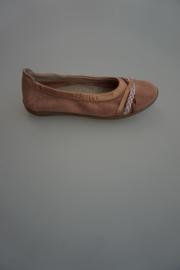 Clic, leren ballerina, leer gevoerd, met bandjes, doorlopende zool, basket petalo, roze 32