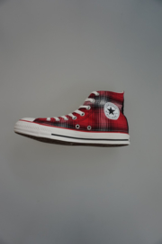 All Star, CT ombre Hi, Canvas, hoog, rood, zwart, wit  geruit