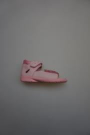 Ricosta, gladleer, leren voetbed, klittenband verstelbaar, dichte hiel, vlinder rose 23