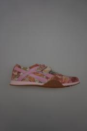 Froxy, leren klittenbandschoen, rose met floral print , leer gevoerd, glitter rose