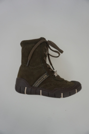 Little David half hoge veterlaars nubuck Olijfgroen 25 31 33