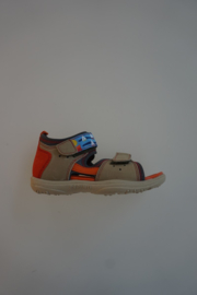 Ricosta, High tech sandaal, dichte hiel, leren binnenzool, klittenbanden verstelbaar, taupe 25