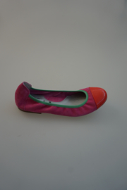 Acebo's leren ballerina met lakneusje, nubuck leer, leer gevoerd,  36 37