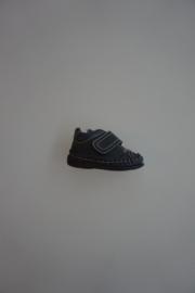Bardossa leren schoentje met klittenband. leren flex schoentje,  mocassin, blauw 20