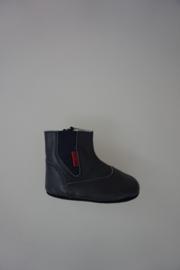 Shoesme laarsje blauw , baby proof, kruip/loop fase, met ritsje en elastische inzet, leer