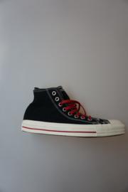 Converse, All Stars, Ct Dbl.upp pin stip Hi, rode en off white veter (2paar), canvas, black multi 41
