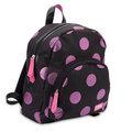 Zebra Trends, rugzak zwart met glitter dots in hot pink