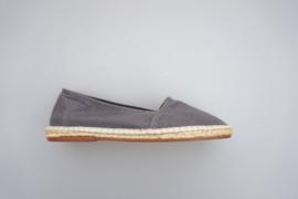 Econfort, espadrille met los voetbed, linnen met touwrand, grijs, maat 36