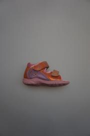 Ricosta, leren sandaaltje, dichte hiel, klittenbanden/verstelbaar, smal, leren voetbed, rose/pricot/lila metallic 19 20 21 22  24