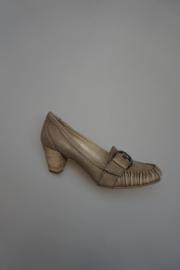 SPM, moccasin pump met siergesp voor, leer, ivory antic 39 41