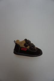 Shoesme, flexibele schoentjes met klittenbandjes, stootneusje, nubuck leer, leer gevoerd, multi bruin 18