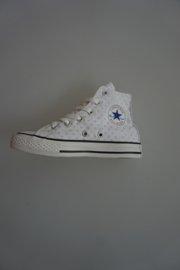 All Star, CT Hi Optical White zilveren bolletjes all over 29  38