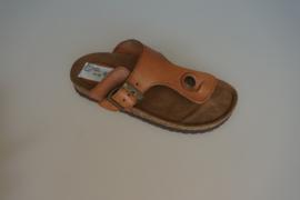 Palma, Teen sandaal, uitgevoerd in leer, met gespje verstelbaar, cognac  30