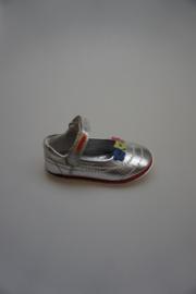 Gattino, metallic leren kruip-loopschoentje, flexibel, zilver 21