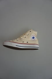 All Star CT Yth, Classic, hoog, canvas, White (roomkleur), unbleaced:  31 32½  34