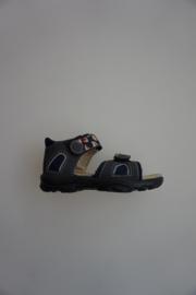 Ricosta/Peppino, lichtgewicht leren sandaaltje, dichte hiel, Klittenbanden, blauw, 23 25