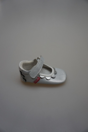 Shoesme, babyproof, kruip-loopschoentje, geheel leer, zilver metallic met schubjes rand 21