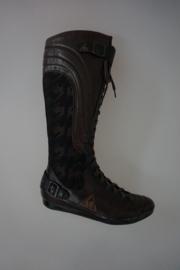 Le coq Sportif hoge veterlaars, leer en stof, fleece gevoerd donker bruin 36