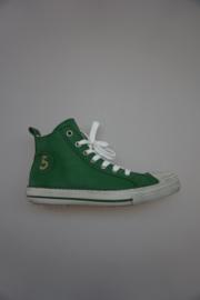 Gattino, leren sneaker met stootneus, vetersluiting en ritssluiting, leer gevoerd, groen 30