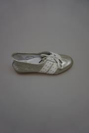 Quick, leren sneaker, metallic, niet leergevoerd, platinum Ghiaccio/wit