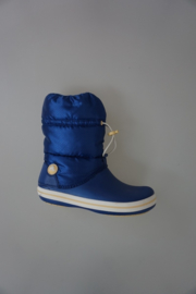 Crocs crocband snow/winterboot dames, fleece gevoerd kobalt blauw