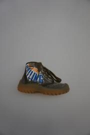 Naturino, canvasschonetje mid hoog met veter, leer gevoerd, stootneus, kaki 20 21