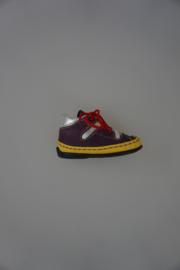 Bardossa, leren schoentjes met flexibele zooltjes, leer gevoerd, moccassin,  multicolor met geel en zilver maat 19,20, 21