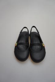 Crocs, ballerina/bandschoen met open hiel, zwart
