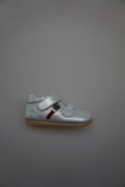 Shoesme, BabyFlex (BF), leren t bandschoentje, flexibele zool, zilver 23