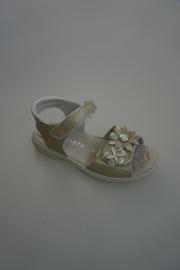 Ricosta, leren sandaal, klittenbanden, met bloemen,   31