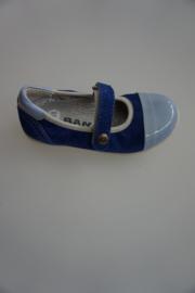Bana, leren bandschoentje in blauwtinten, lakneusje , bluette/blauw 24 26