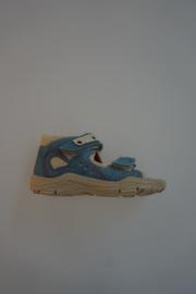Ricosta, nubuck leren sandaal met klittenbandsluiting, dichte hiel, jeans blauw 25