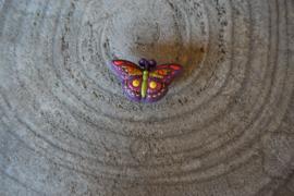 Crocs Jibbitz, vlinder, paars multi