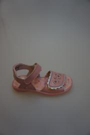 Ricosta, leren klittenband sandaal, verstelbaar, lak leer, leer van binnen, rose   30