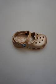 Crocs, bandschoen met 2 bandjes gold