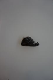 Bardossa leren schoentje, klittenband , leer gevoerd, flexibele zool, zwart 19