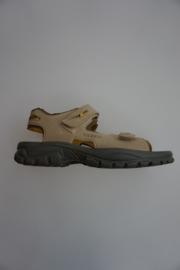 Ricosta, leren sandaal, lichtgewicht, klittenbanden verstelbaar, taupe, 38