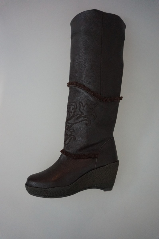 stoere leren dames laarzen