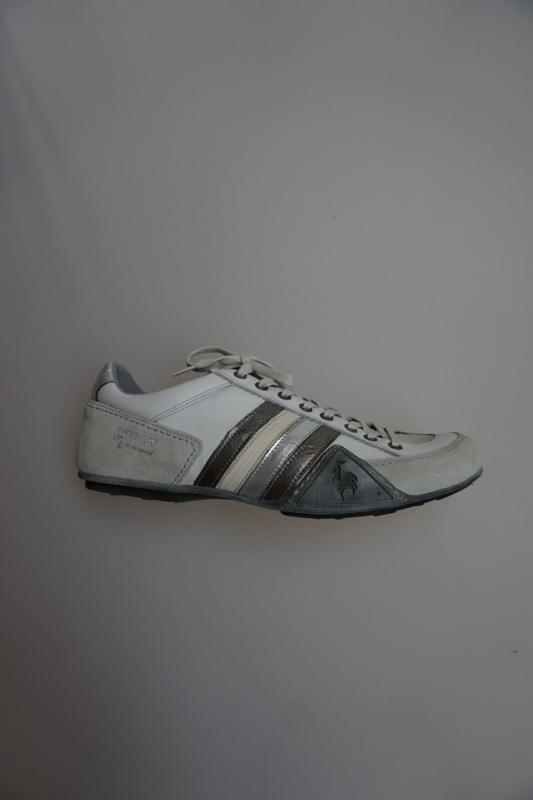 uitgebreide selectie releasedatum Goede prijzen Le coq Sportif , veter schoen, leer, wit/grijs multi ...