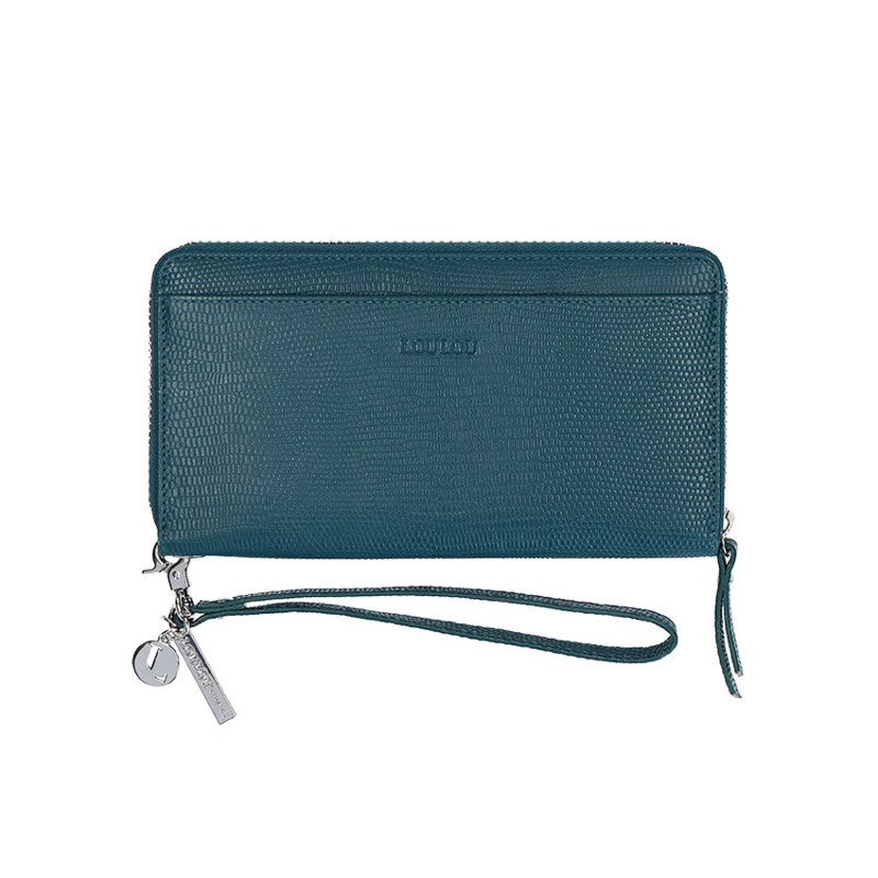 By Lou Lou, SLB S 107S 057, Smart Little Bag, lovely Lizzard, Petrol Blue