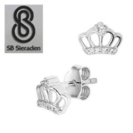 Meisjes oorbellen met kroontje - Zilver 925