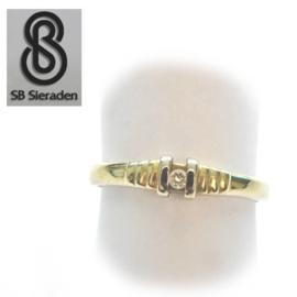 14krt bicolor gouden ring met ZIRCONIA