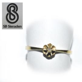 14krt  geel gouden Klassieke ring met DIAMANT