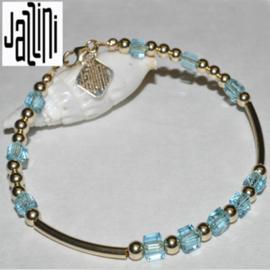 Goldfilled   Armband  - met Kubuskristallen