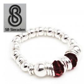 Geboortesteen Ring - Zilver 925 met Swarovski kristal