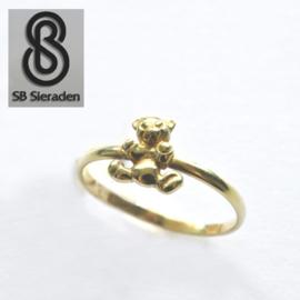 14krt echt gouden ring met BEERTJE