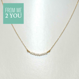 Ketting met ZOETWTER PARELTJES - From Me To You - Goldfilled-14k