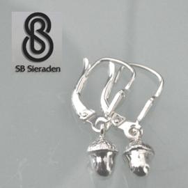 Meisjes oorbellen met eikeltjes - Zilver 925